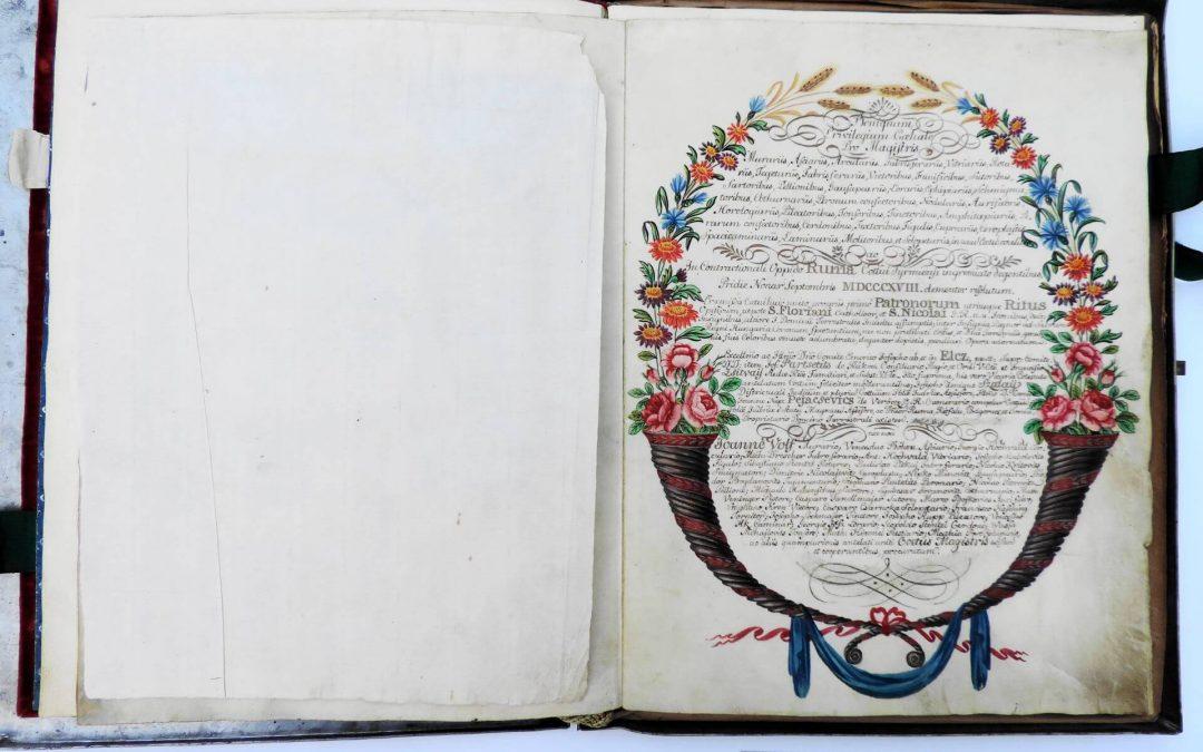 Царска цеховска повеља румским занатлијама из 1818. године